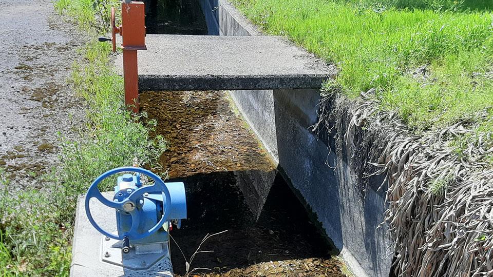 整備された用水路